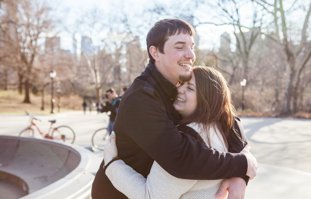 Surprise Proposal in NYC's Central Park