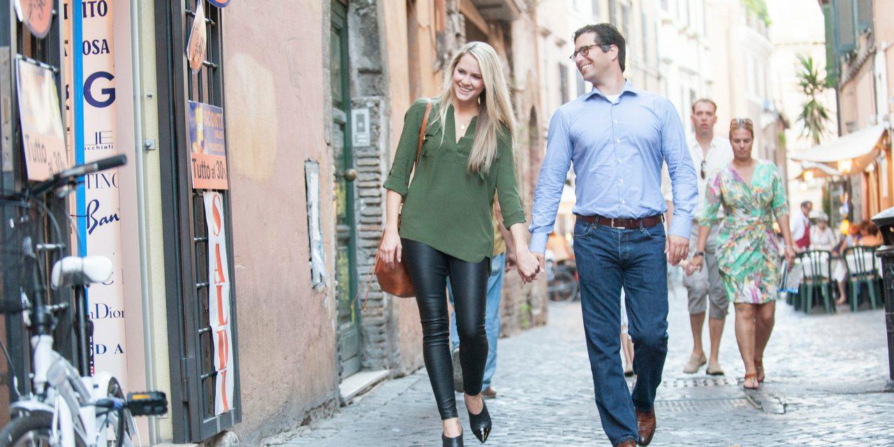 Romantic Honeymoon Photos in Rome