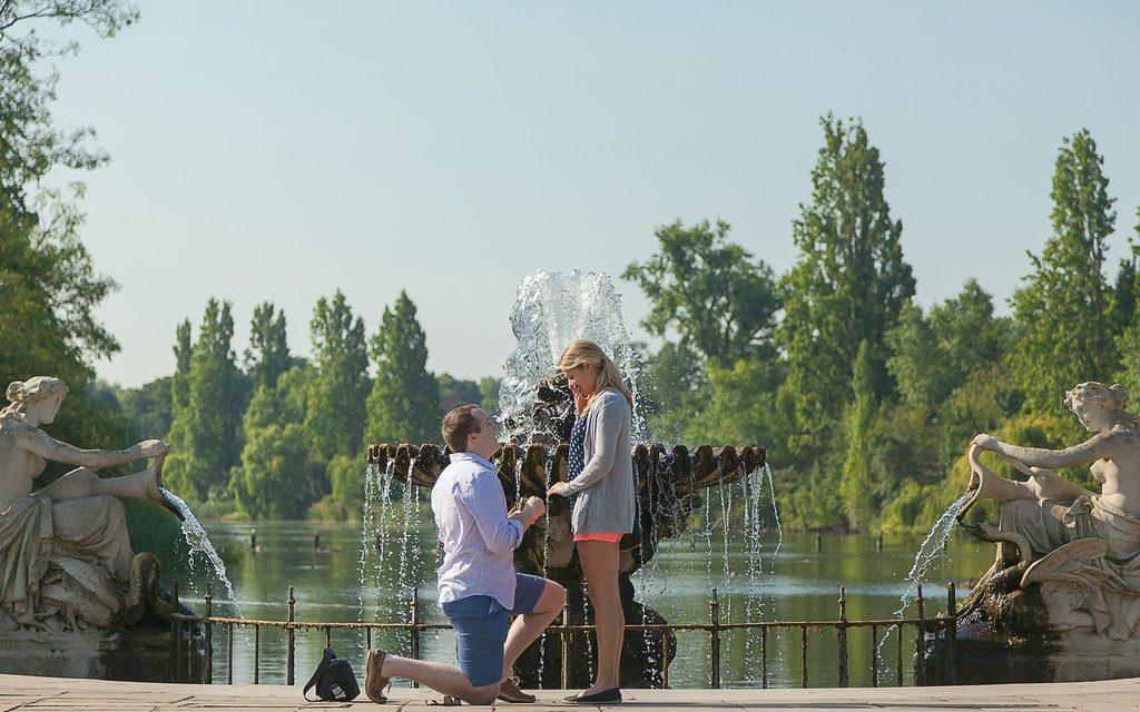 Hyde Park Surprise Proposal | London Proposal Photographer