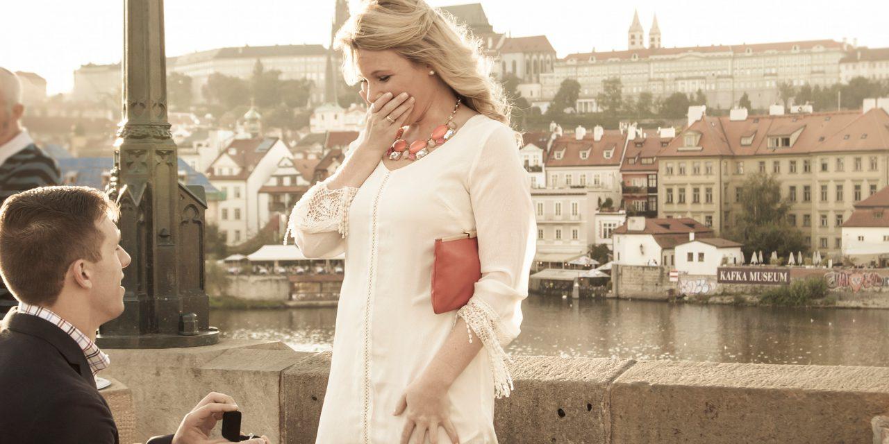 Surprise Proposal in Prague on the Charles Bridge