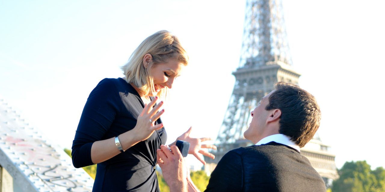 Dream Surprise Proposal Near Eiffel Tower