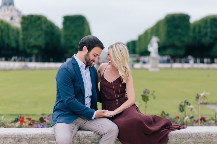 A Romantic Surprise Garden Proposal in Paris