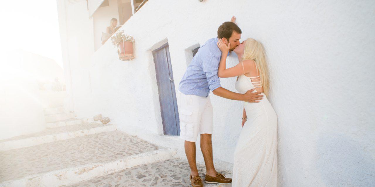 A Double Surprise Santorini Proposal