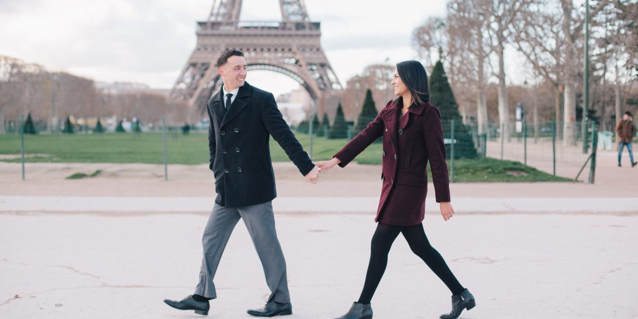 Romantic Parisian Engagement Shoot at the Eiffel Tower
