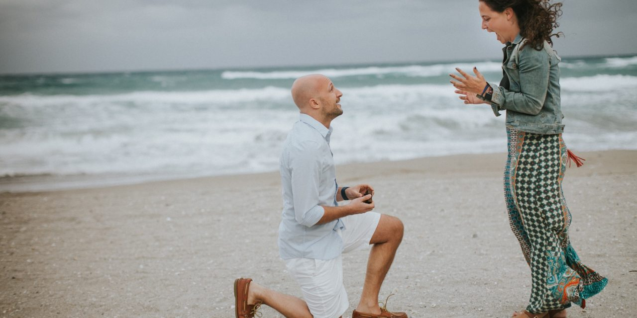 A Windswept Palm Beach Surprise Proposal With Photos