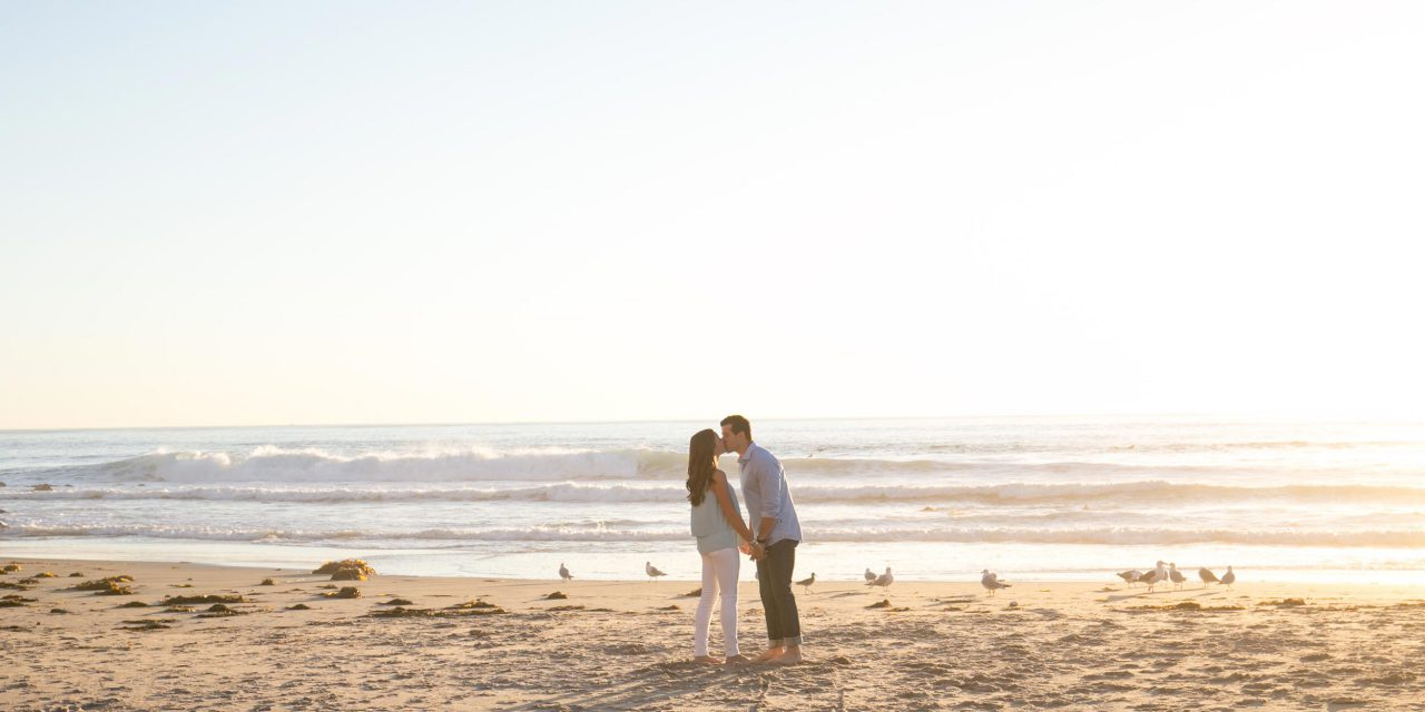 A Romantic Laguna Beach Proposal Topped With Sprinkles