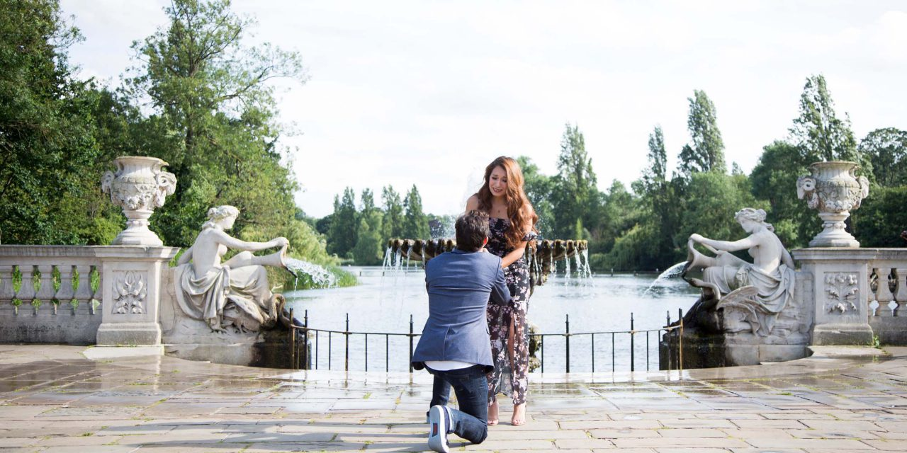 A Lovely London Proposal Followed By a Warm Family Welcome