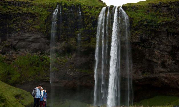 A Breathtaking Waterfall Proposal in Iceland