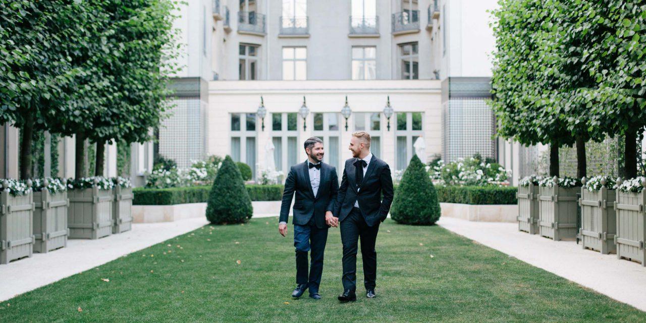 A Black Tie Paris Engagement