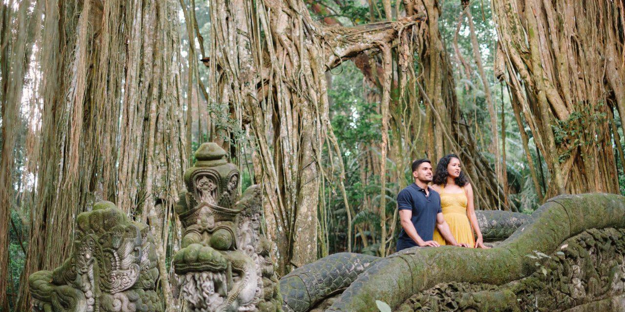 Exploring the Ubud Monkey Forest With Flytographer