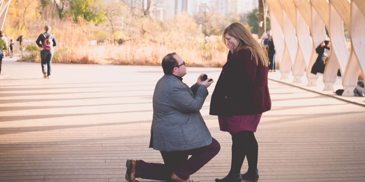 A Travel-Loving Couple's Surprise Proposal in Chicago