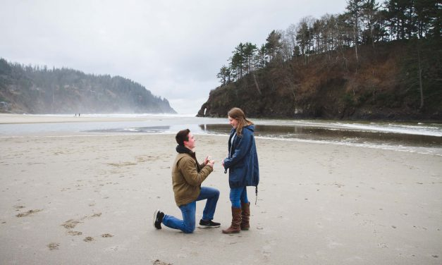 A High School Sweetheart Surprise Proposal at Proposal Rock