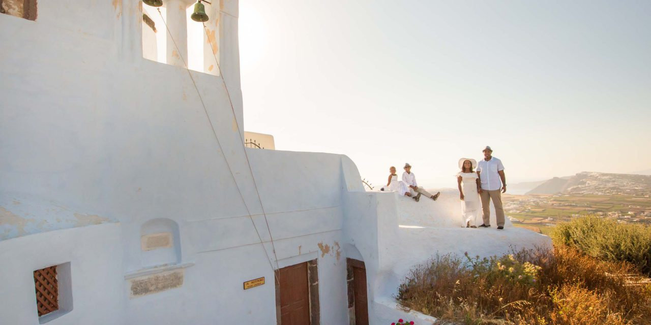 A Five-Year-Old's Birthday Dream Comes True In Santorini