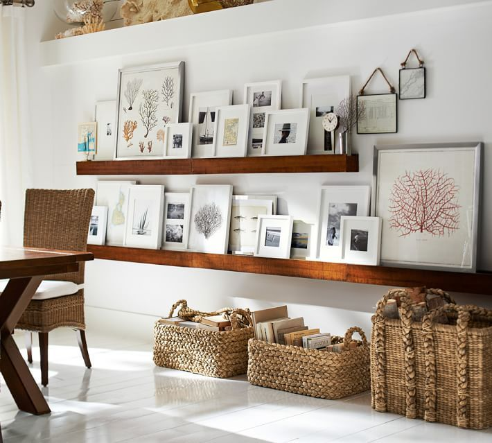 Gallery photos in a living room