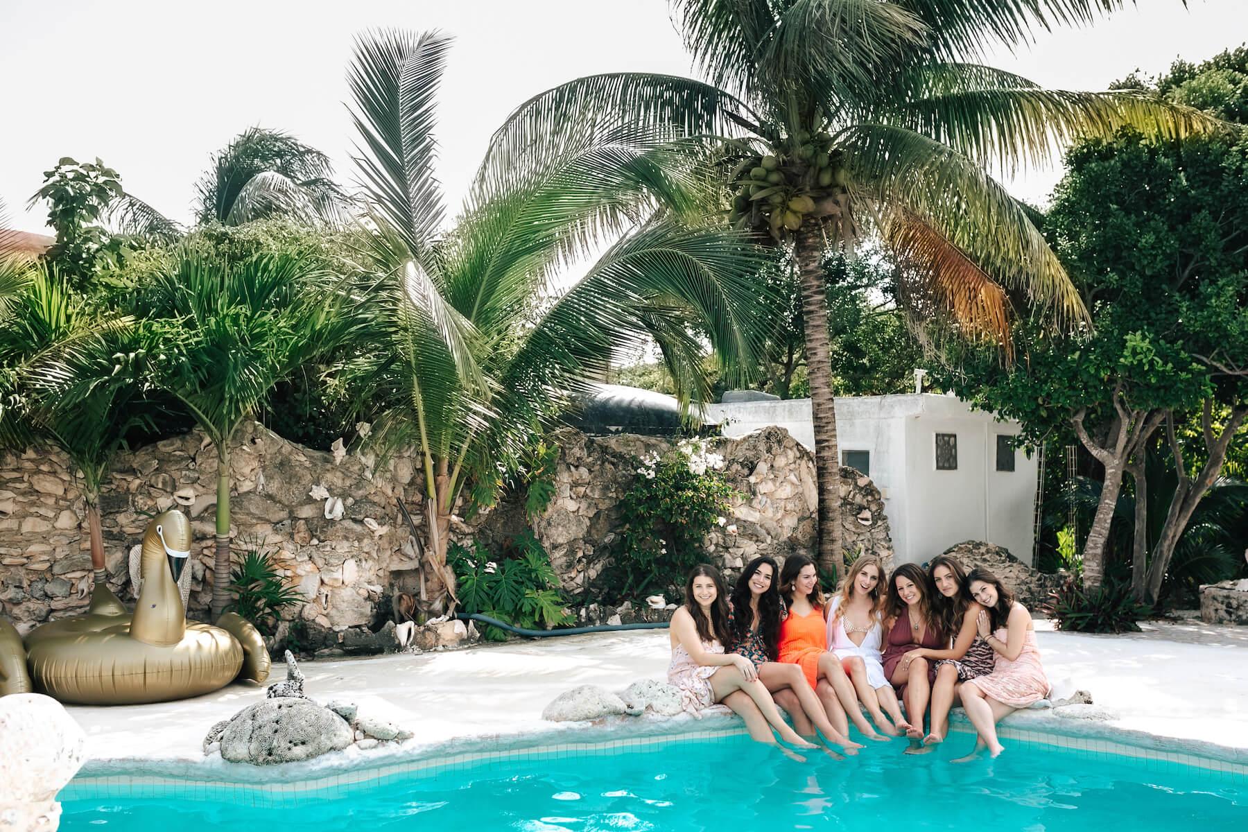 bachelorette in Cancun, Mexico
