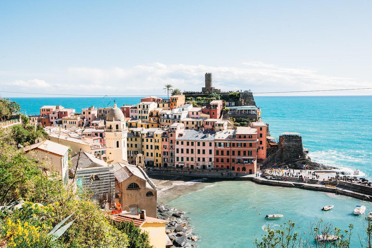 Cinque Terre coastline in Italy