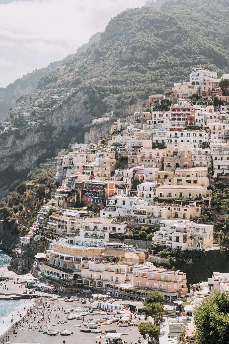 Amalfi Coast Village & Shoreline in Italy