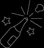 Icon of prosseco bottle