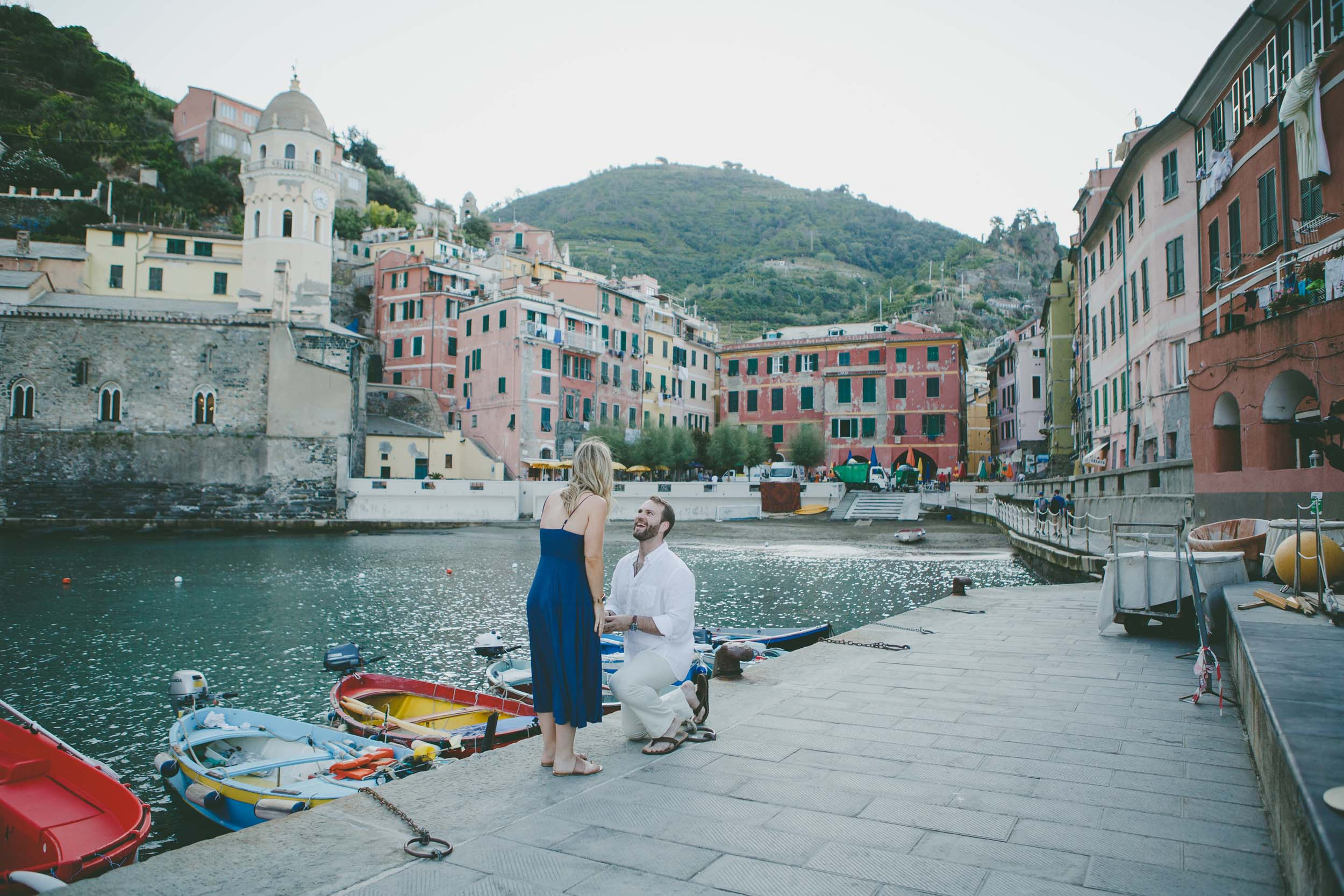 A Dreamy Cinque Terre Proposal Inspired by a Painting