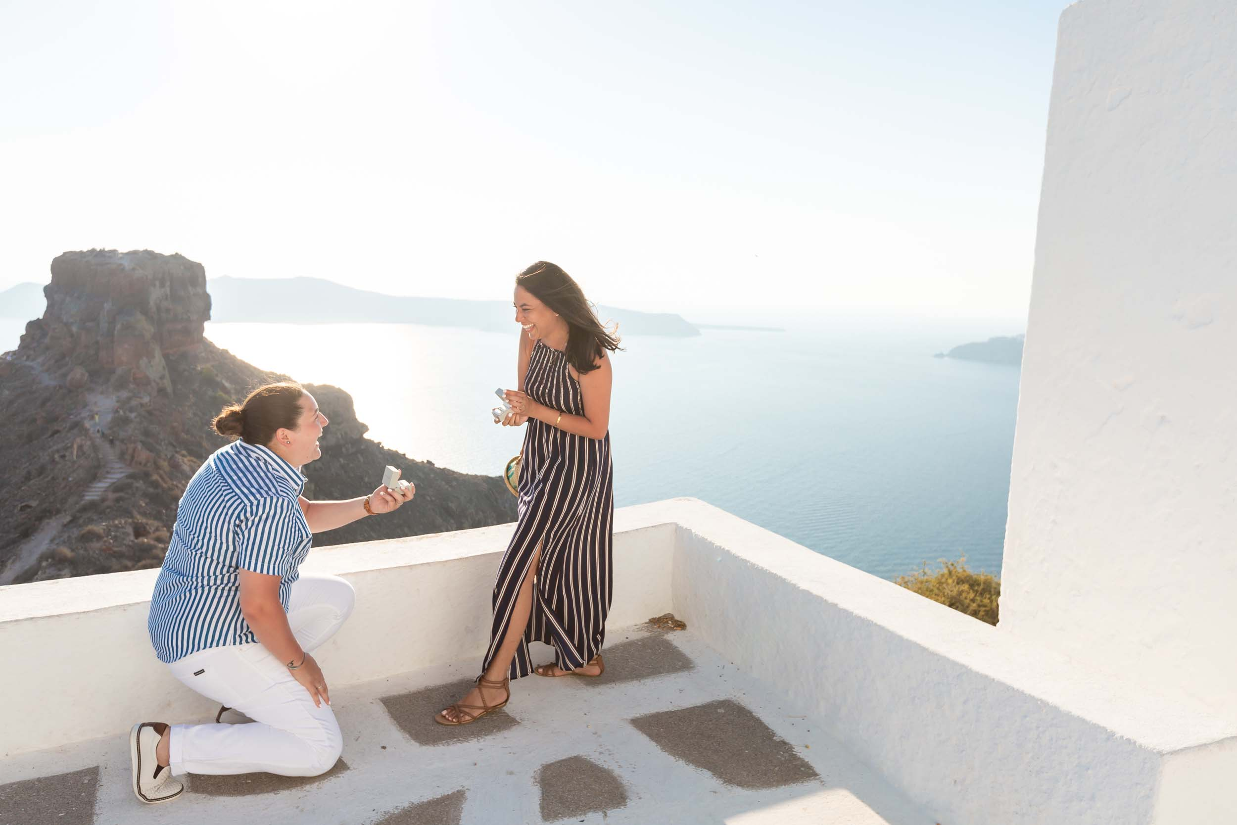 A Serendipitous Double Santorini Proposal