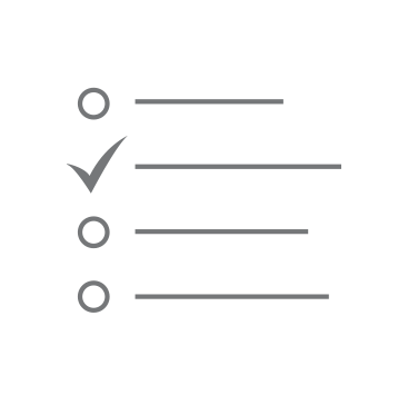 icon of a checklist of items