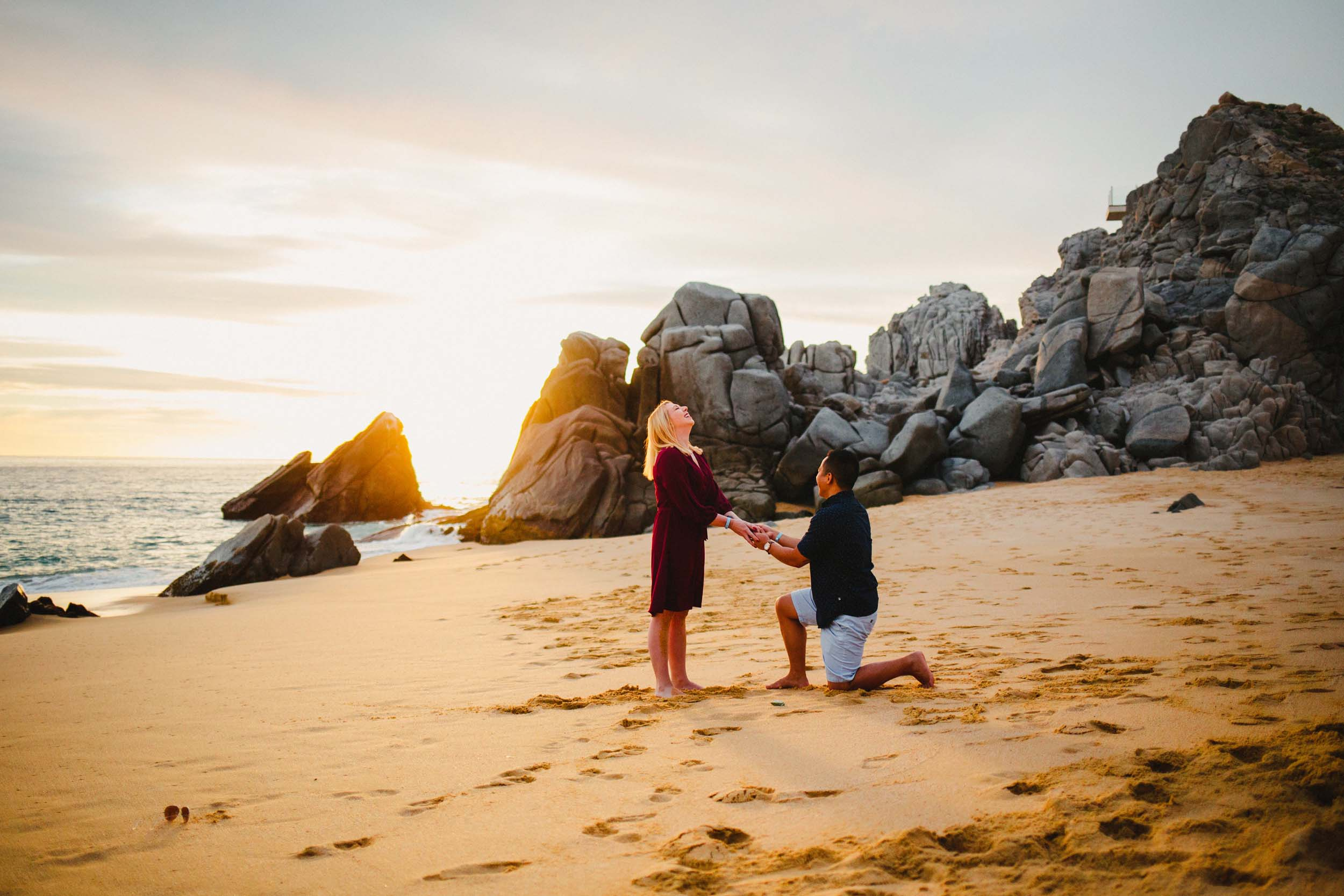 A Beach Proposal That Proves the World is Your Oyster