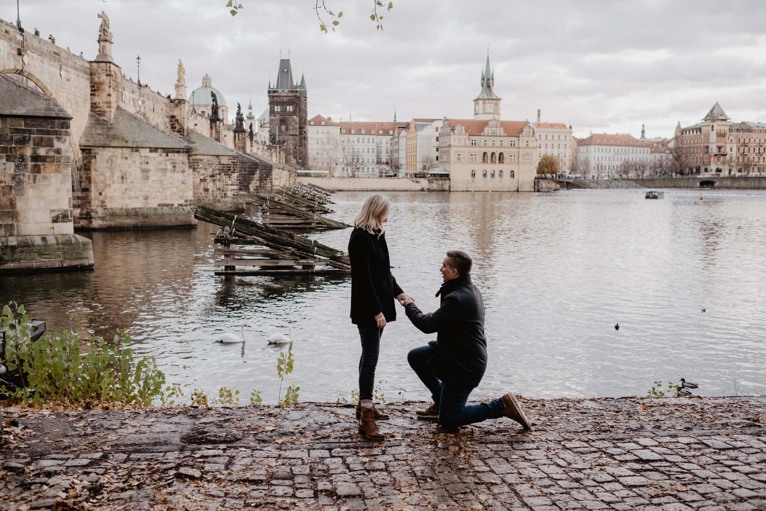 'Tis the Season for a Magical Prague Proposal