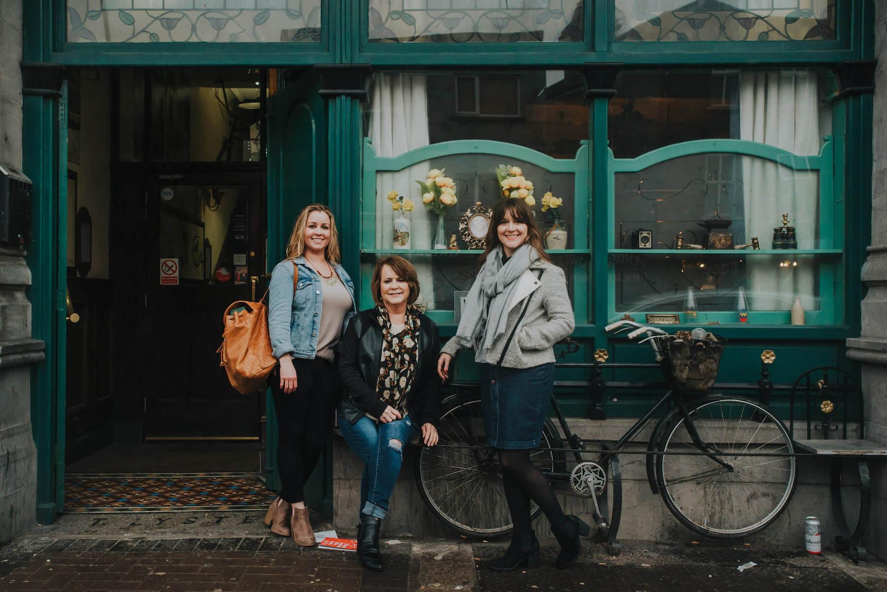 Mother daughters in Dublin, Ireland