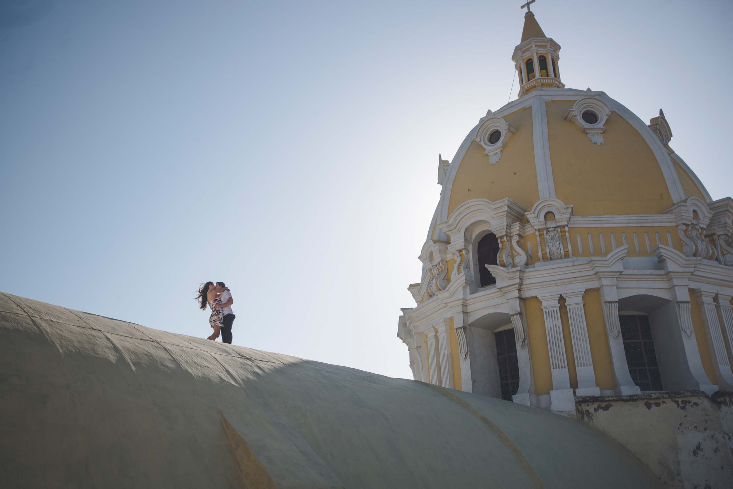 A Gorgeous Cartagena Rooftop Proposal