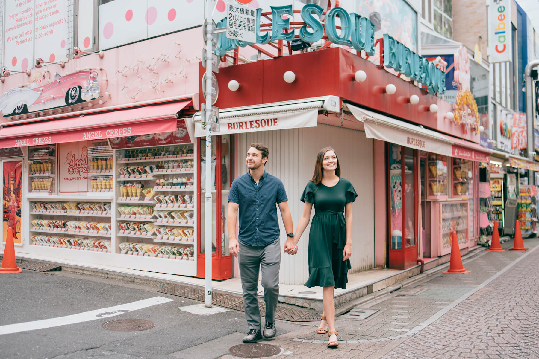 Couple trip in Harajuku Tokyo, Japan