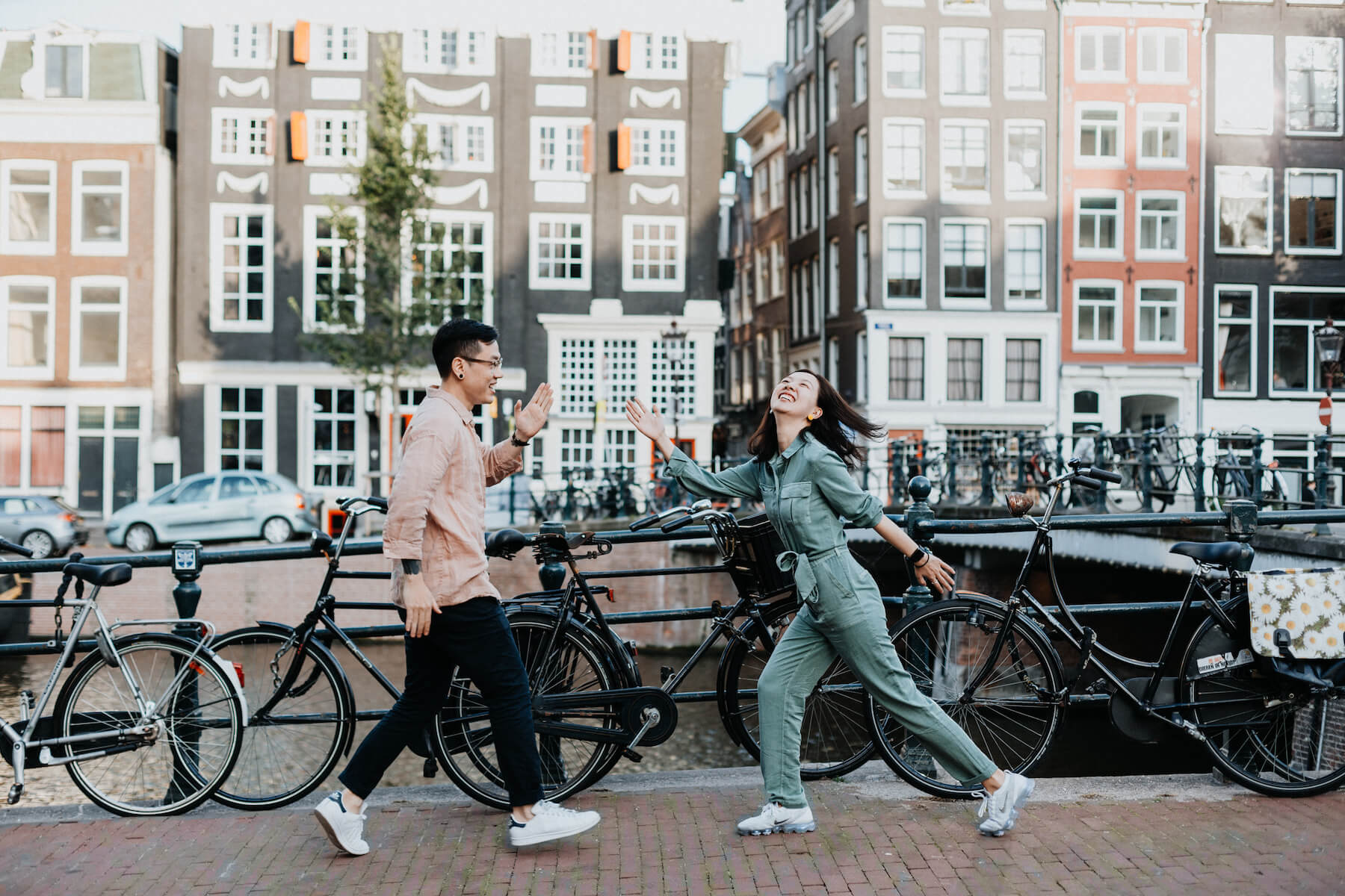 Couple proposal in Amsterdam, Netherlands