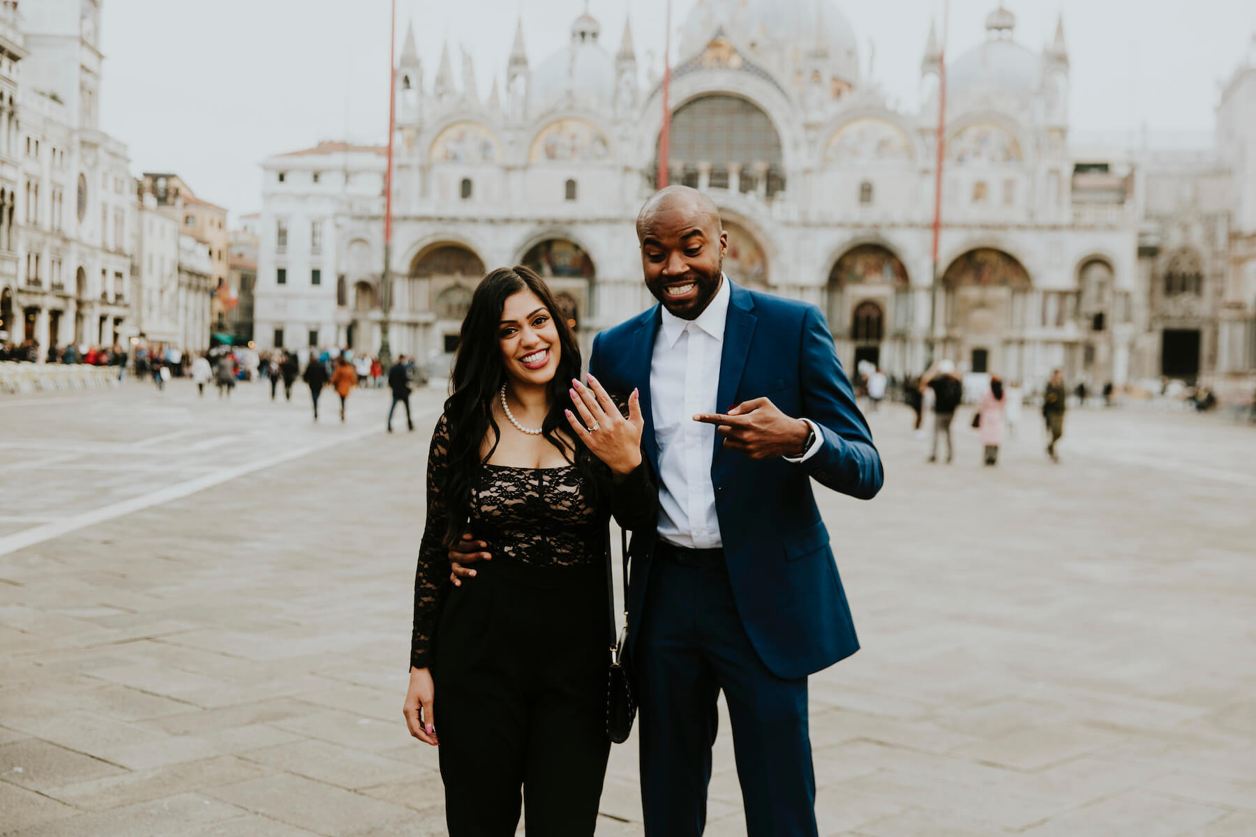 Couple proposal in Venice, Italy