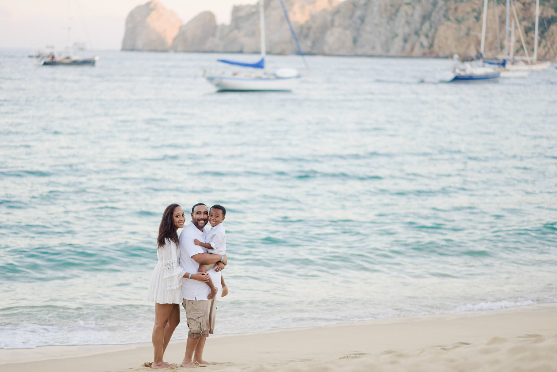 family in Cabo San Lucas, Mexico
