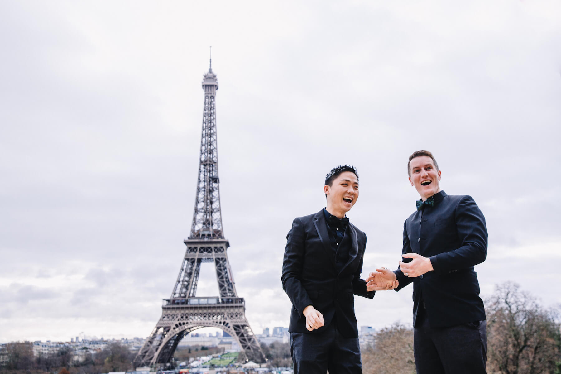 couple proposal in Paris, France