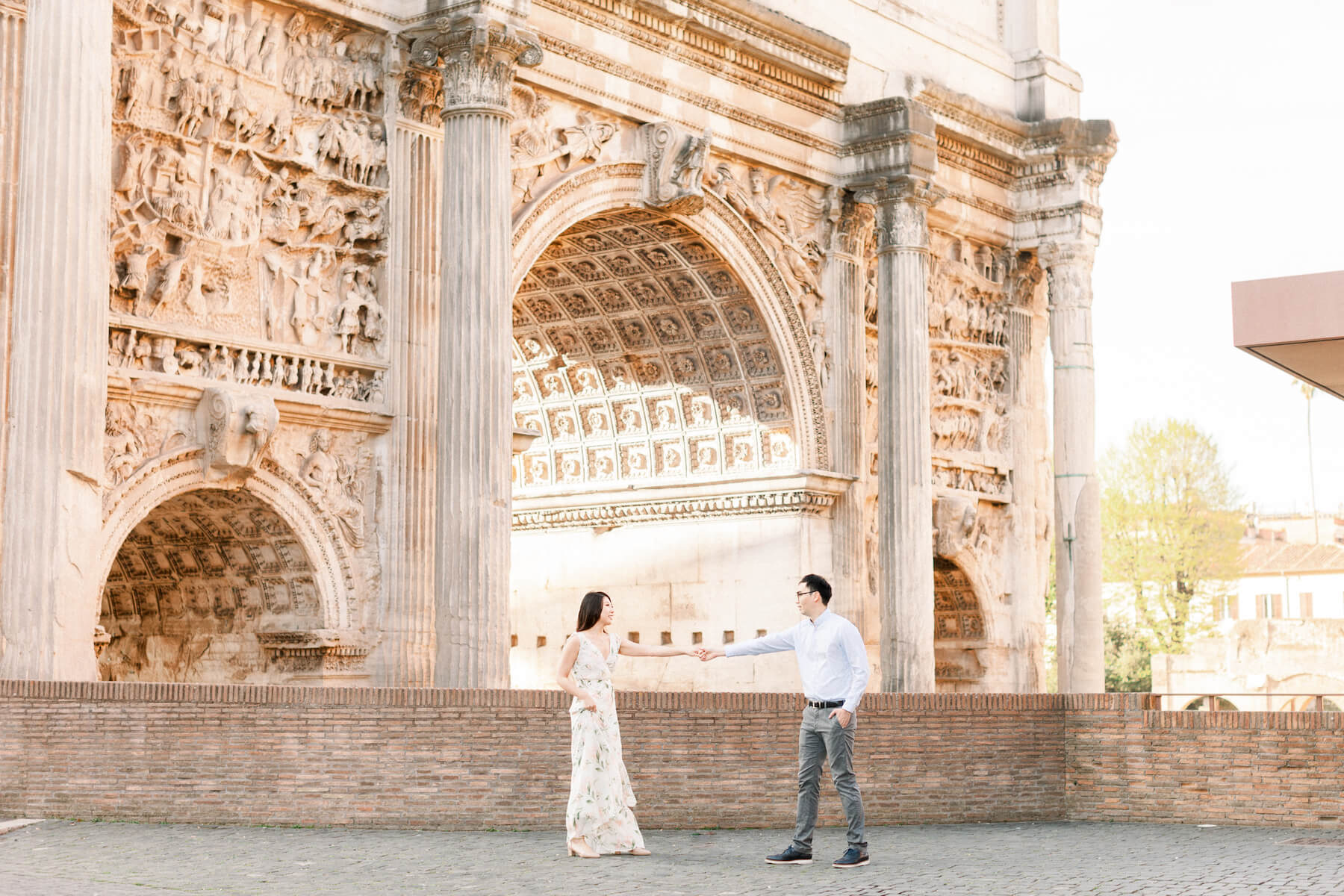 couples trip in Rome, Italy
