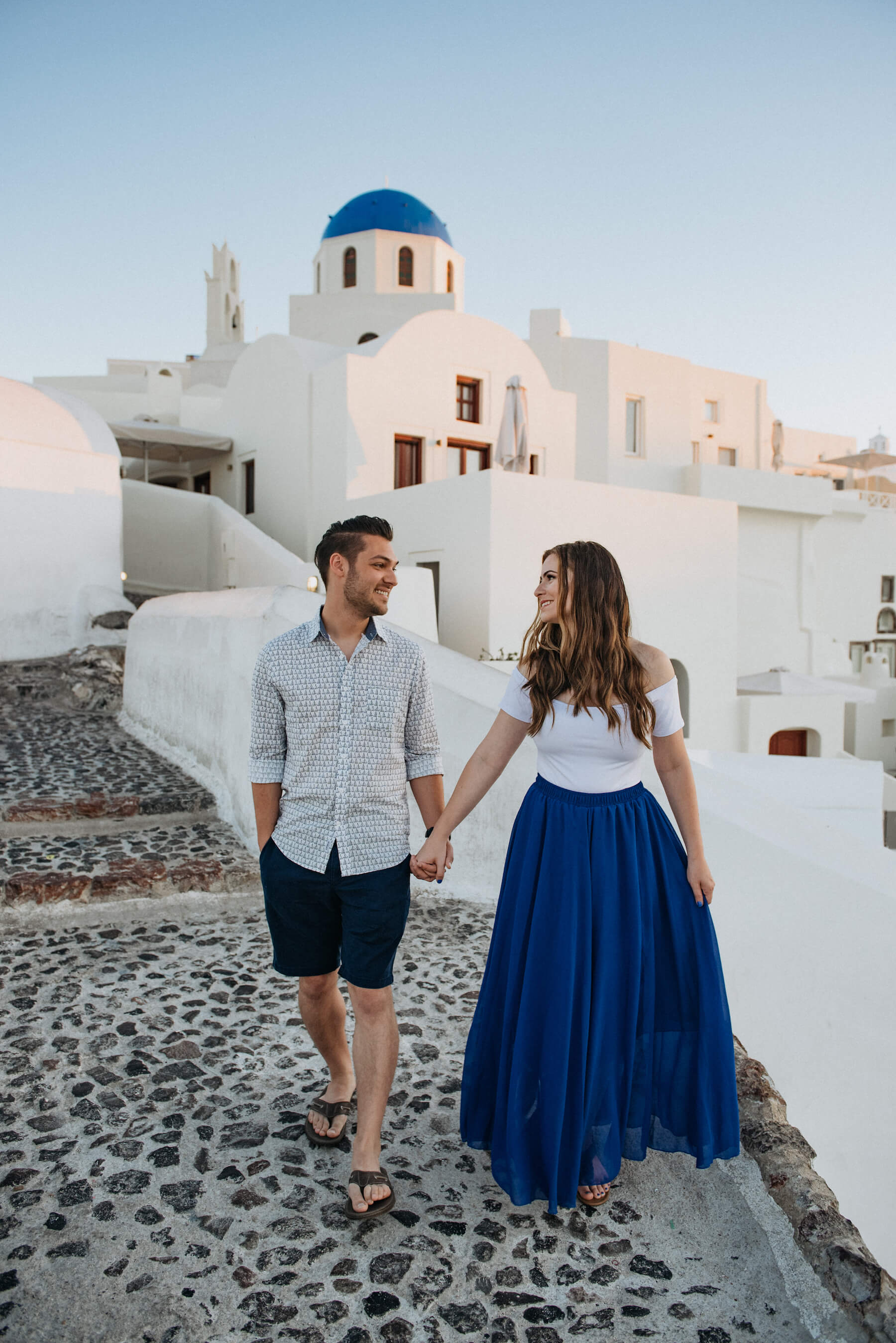 Couples trip in Santorini, Greece
