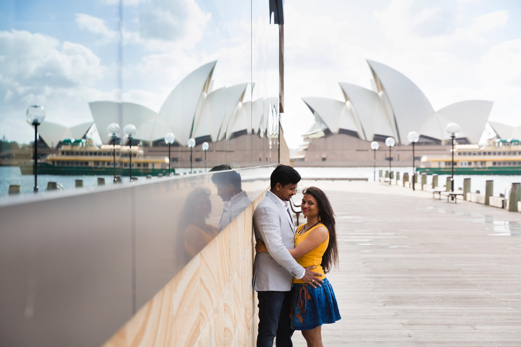 two people hugging each other in Sydney, Australia