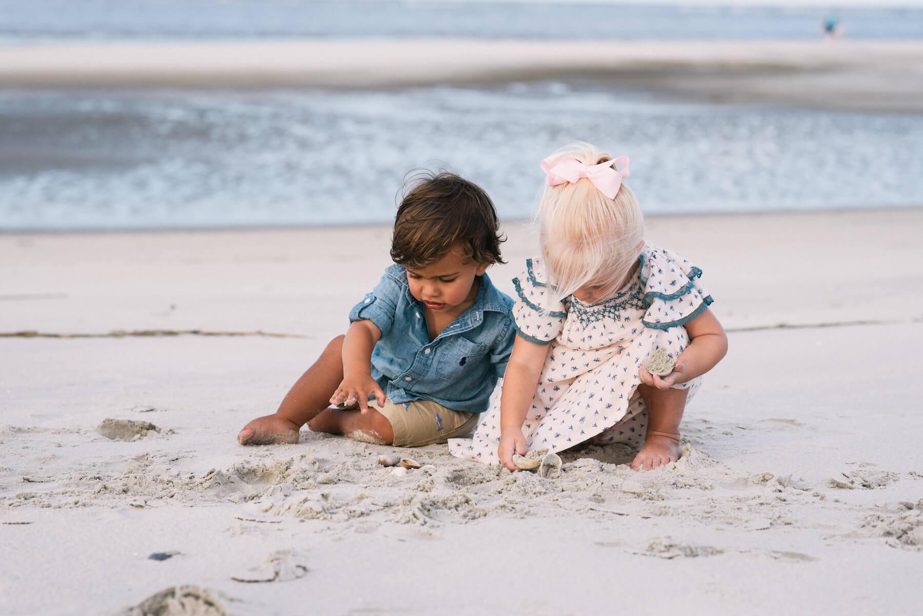 kids playing on the beach Savannah, Georgia, United States of America