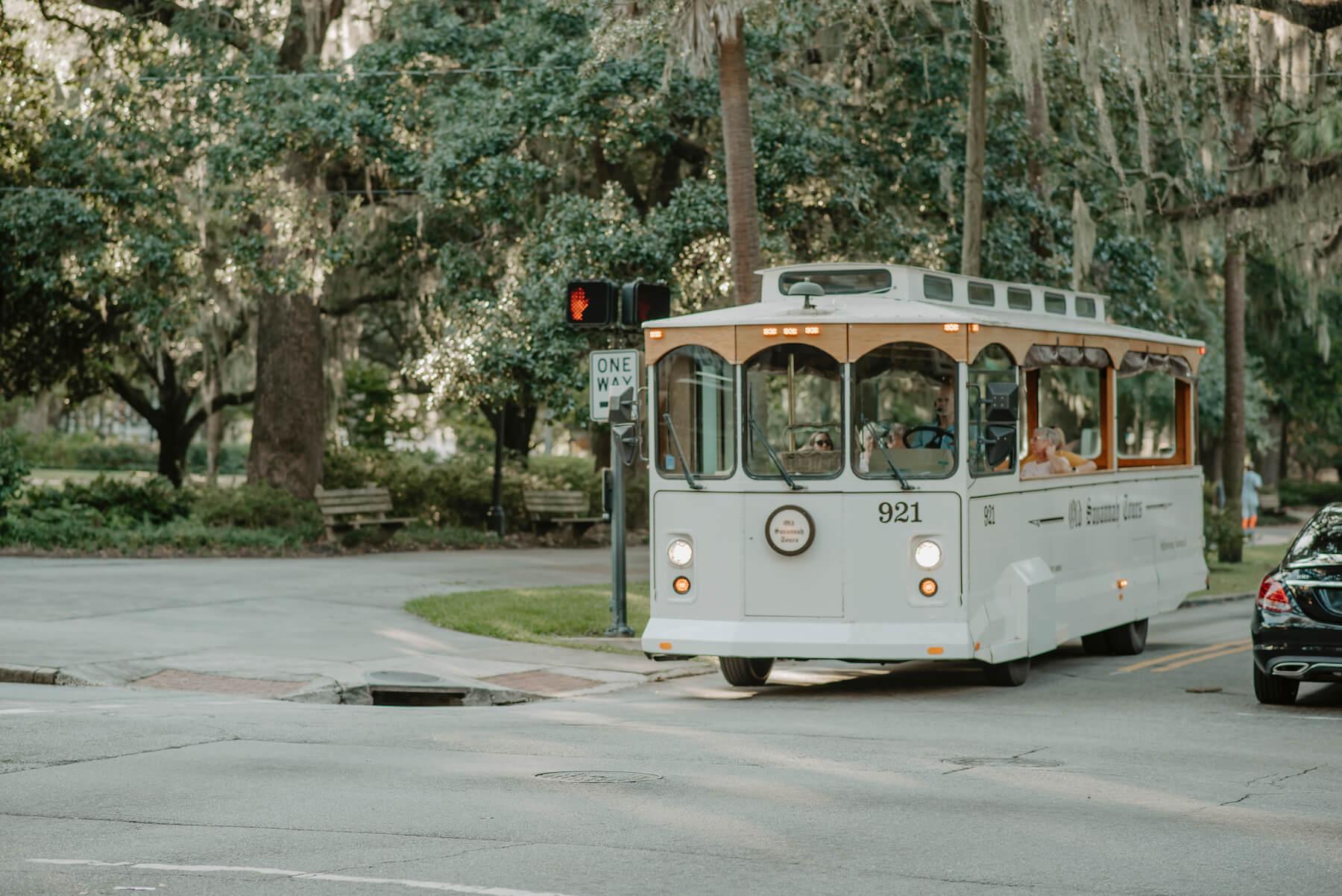 a trolley bus Savannah, Georgia, United States of America