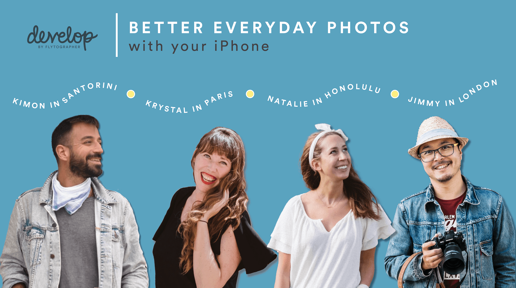 woman taking an iphone photography course with Flytographer