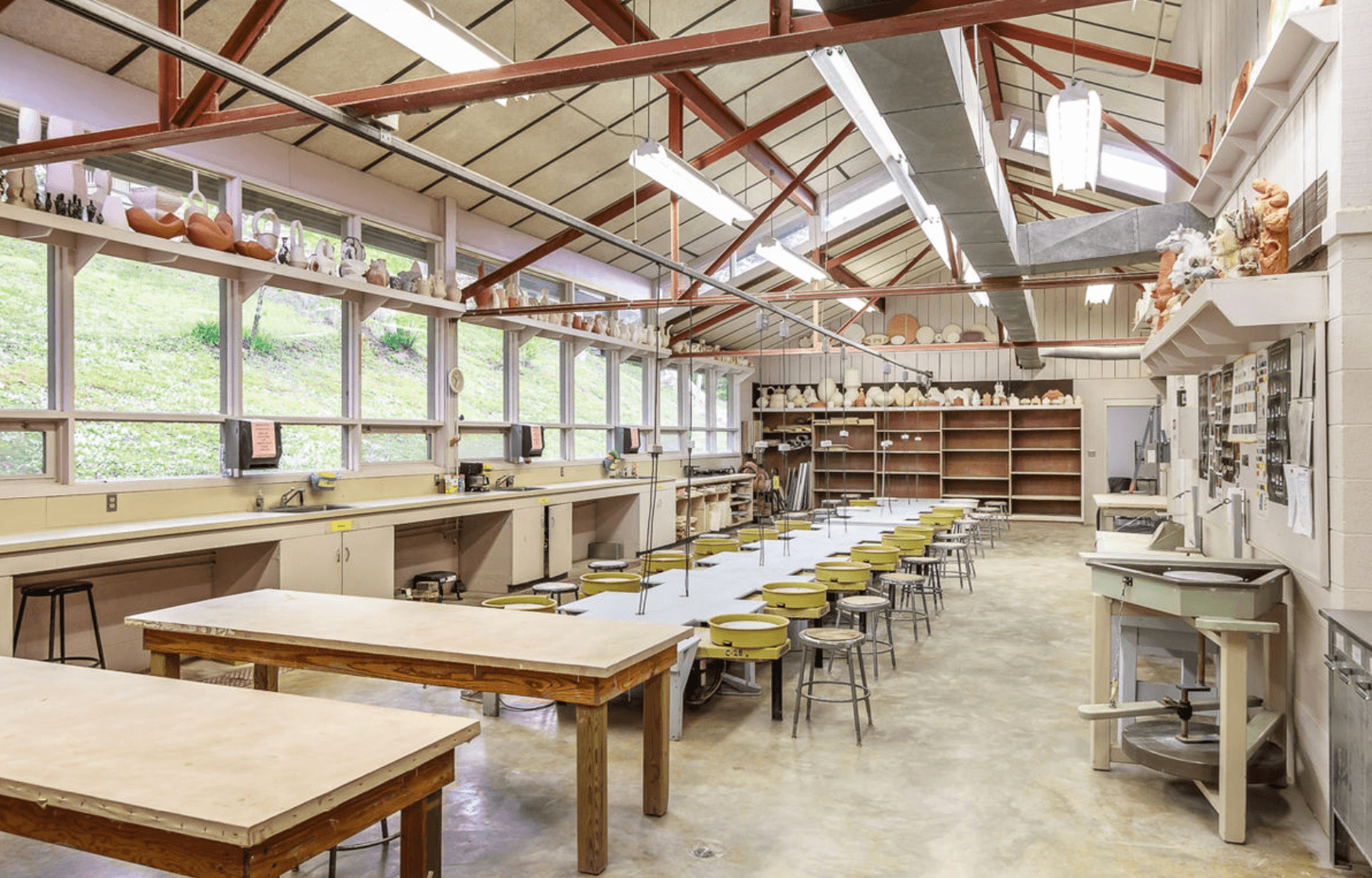image of a pottery studio in New York City
