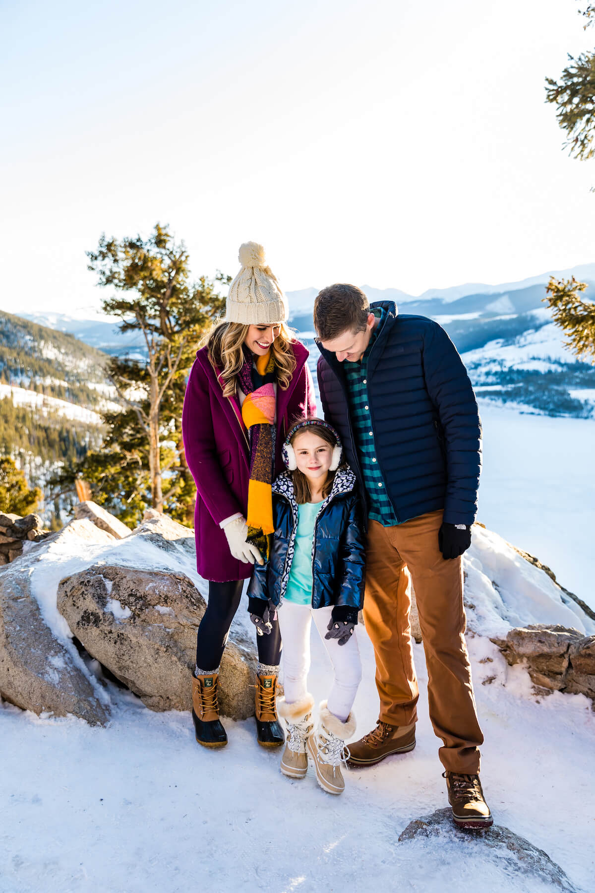 Family in the snow in Breckenridge Colorado