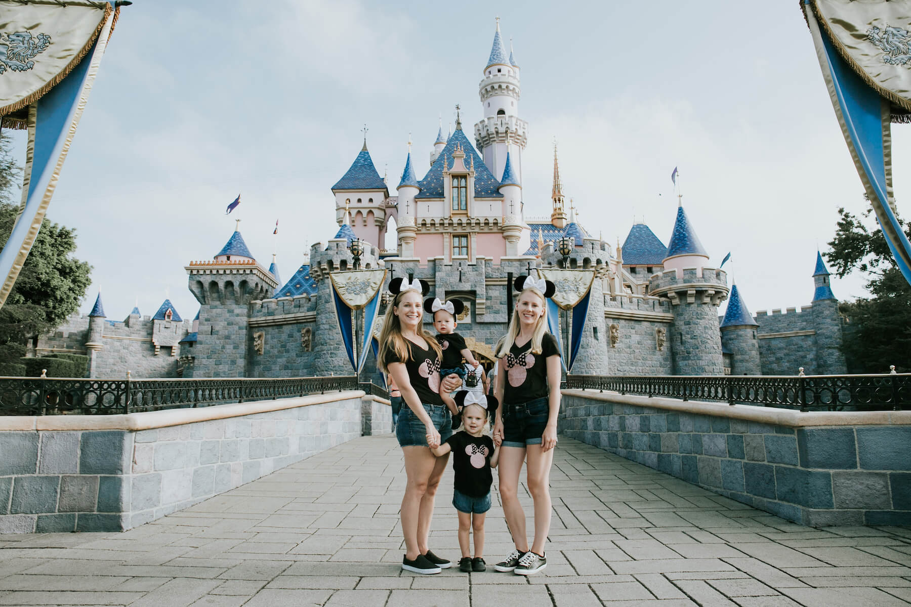 Lesbian Couple Family in Disneyland Anaheim California Unites States USA
