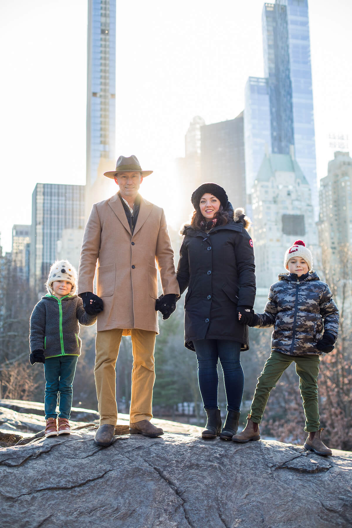 Family of 4 in New York City Unites States USA