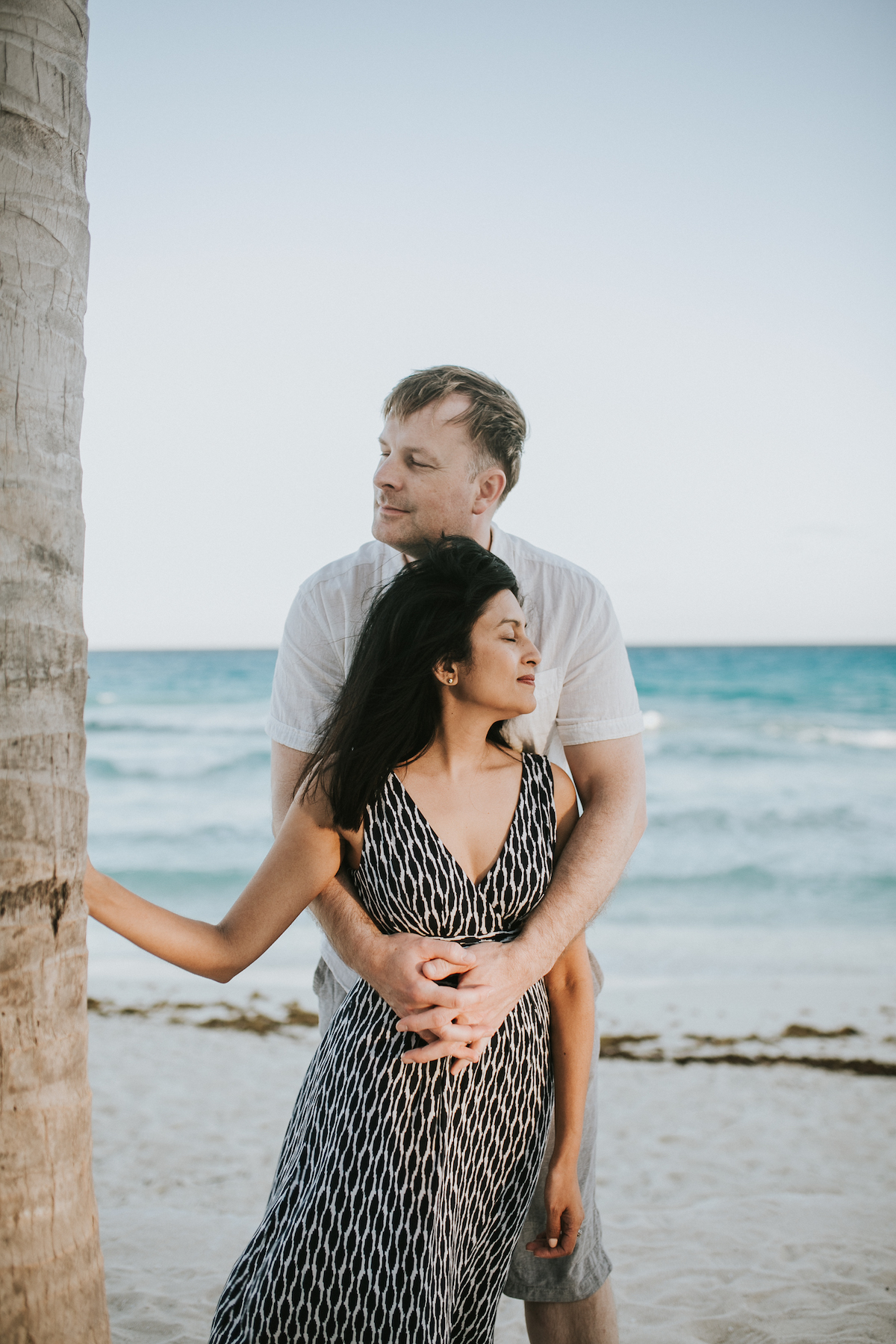 Couple in Cancun Mexico