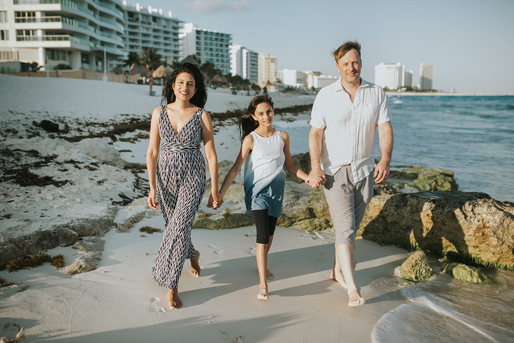 Family in Cancun Mexico
