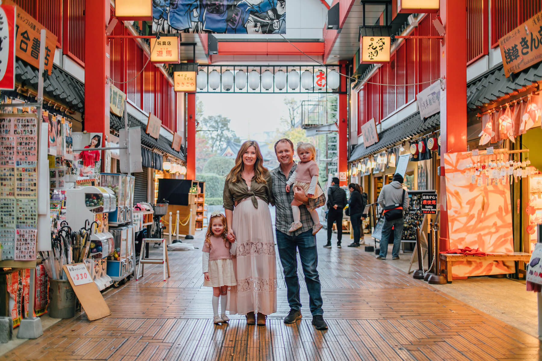 Family of 4 in Tokyo Japan
