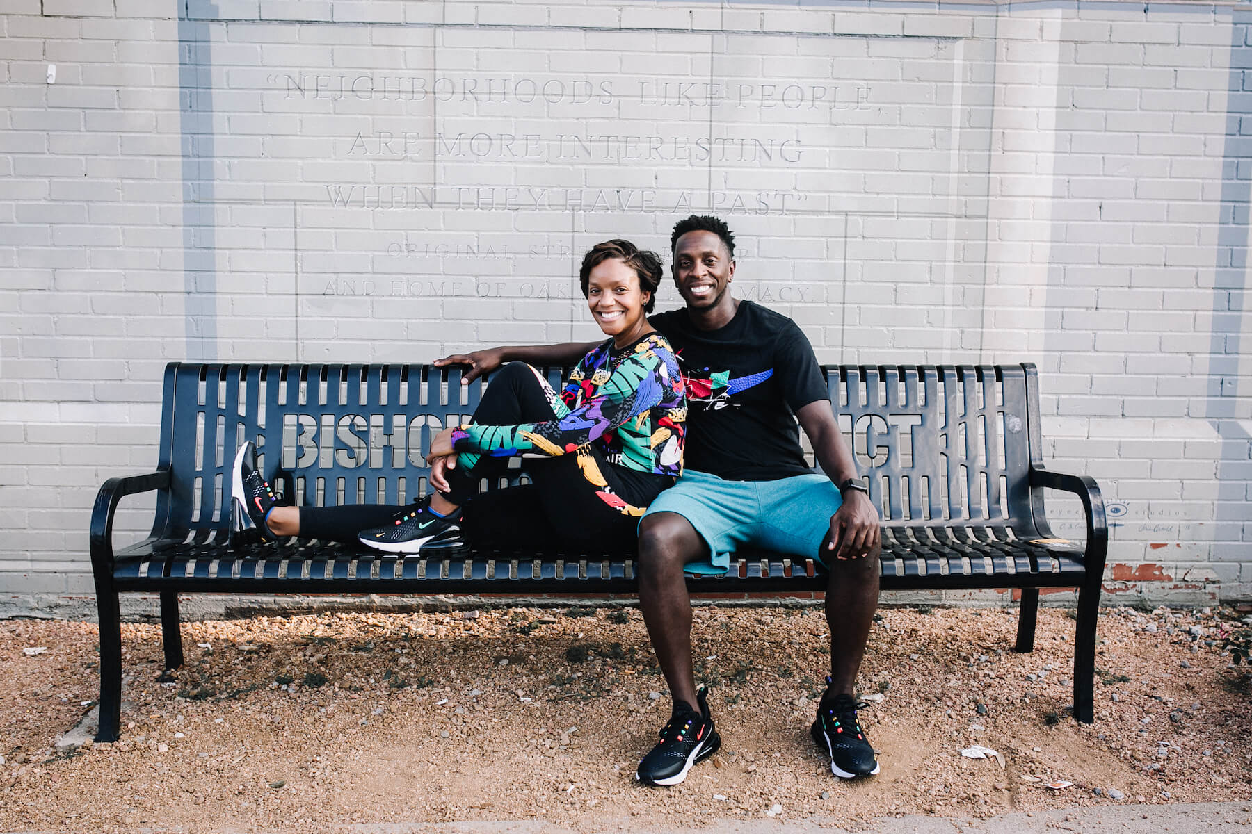 Couple in Nike shoes on a Flytographer photo shoot in Dallas