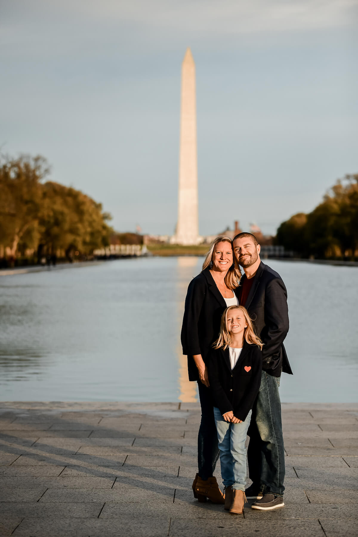 Family of 3 in Washington DC Unites States USA