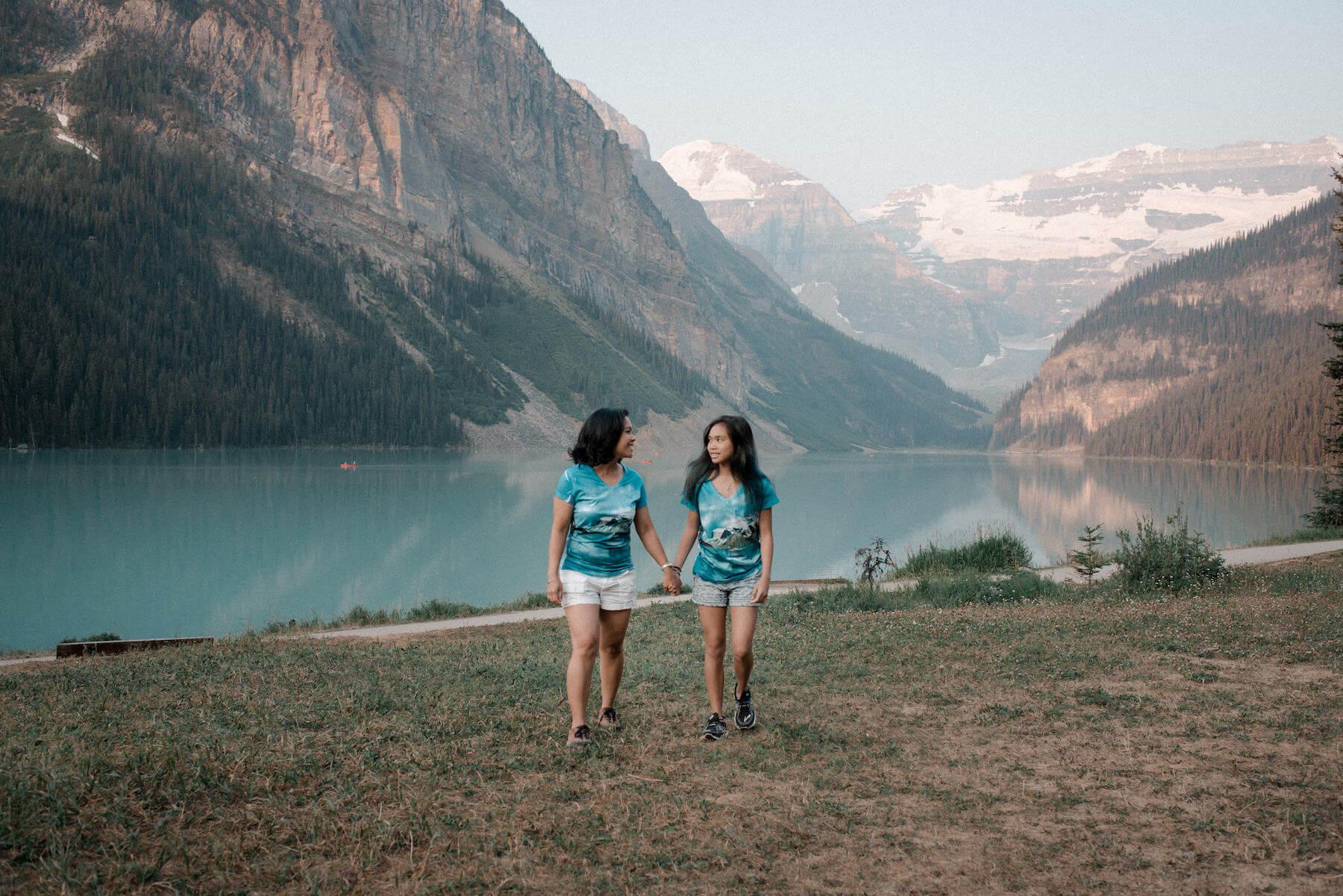 Family in Banff Canada